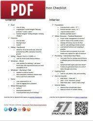 home inspection checklist interior