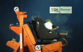 child car seat with airbags goes on