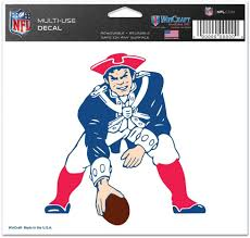 Amazon Com New England Patriots Minuteman Decal Sports Fan Automotive Decals Sports Outdoors