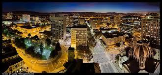 downtown san jose skyline and lights at