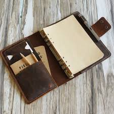 personalized size a5 leather refillable