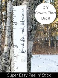 Diy Loved Beyond Measure Growth Chart Vinyl Decal Little Prairie Craft Co