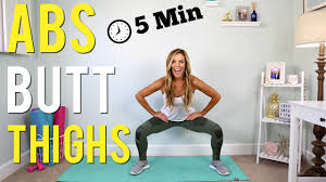 5 minute abs thighs workout