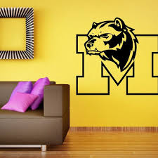 Michigan Wolverines Wall Decal Vinyl Sticker Ncaa College Football Home Interior Removable Decor 22high X 26wide