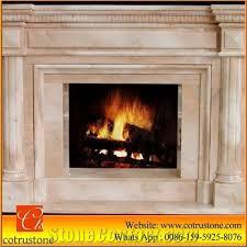beige marble fireplace western style