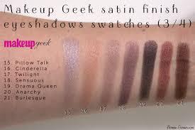 makeup geek eyeshadows satin finish