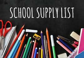 2019-20 School Supply Lists