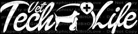 Vet Tech Life Veterinarian Vinyl Decal Sticker Technician Pet Doctor Lilbitolove On Artfire