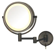 wall mounted magnifying mirror with