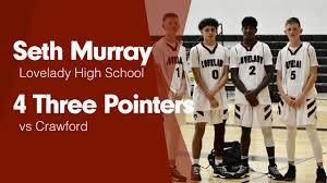 """Seth Murray's (Lovelady, TX) Video """"4 Three Pointers vs Crawford """"    MaxPreps"""