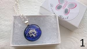 fused glass pendant with cremation ashes