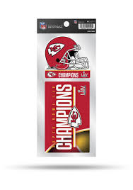 Kansas City Chiefs Super Bowl Liv Champions Double Up Auto Decal Red 7142427