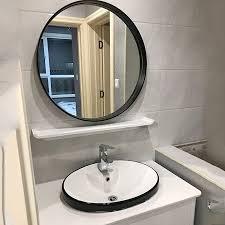 simple black bathroom mirror nordic