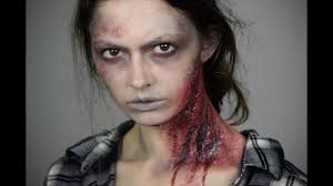zombie makeup with toilet paper and