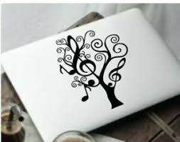 Music Tree Gift Cup Cute Vinyl Decal Tumbler Decal Laptop Sticker Wall Ebay