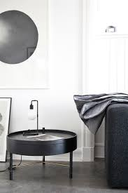 turning table black stained ash ø65 cm