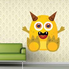Shop Full Color Little Monster Children Room Full Color Wall Decal Sticker Sticker Decal Size 22x22 Free Shipping Today Overstock 14947075