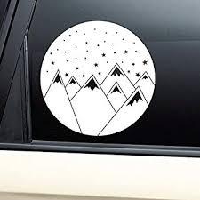 Amazon Com Mountains And Stars Night Sky Vinyl Decal Laptop Car Truck Bumper Window Sticker Automotive