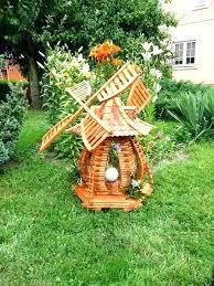 large wooden garden windmill decor wind
