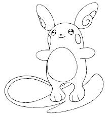 Kleurplaat Pokemon Alola Formen Alola Raichu 12