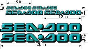Sea Doo 3d Logo Teal 26 Vinyl Vehicle Graphic Decal Sticker Bonus Pack Ebay