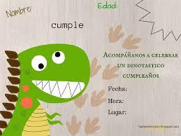 Invitacion De Dinosaurio Solo Tienes Que Imprimirla Y Rellenarla