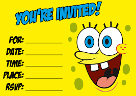 Download This Spongebob Party Invitation Http Birthday
