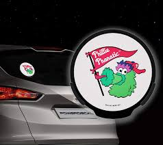 Amazon Com Rico Mlb Philadelphia Phillies Phanatic Power Decal Sports Fan Automotive Decals Sports Outdoors