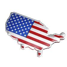 3d Car Auto Stickers Metal Usa United States American Map Flag Decal Emblem Sale Banggood Com