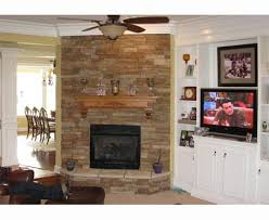 corner fireplace shelving