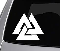 Amazon Com Seek Racing Valknut Decal Car Truck Window Sticker Oden Thor Automotive