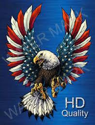 Bald Eagle Usa American Flag Vinyl Sticker Decal American Eagle Truck Window Ebay