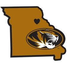 Missouri Tigers Home State Decal 5 Vinyl Sticker Missouri Tigers Tiger Home Team Decal