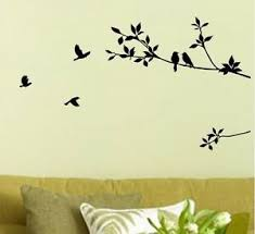 Black Bird Tree Leaf Wall Stickers Decal Removable Home Decor Mural Art Vinyl Ebay