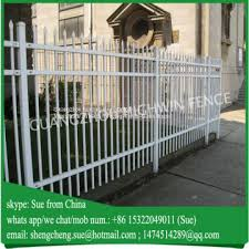 Iron Tubular Fencing Buy White Color Tubular Fencing Swimming Pool Fence Design On China Suppliers Mobile 143034812