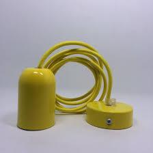 e26 simple yellow pendant lamp cord kit