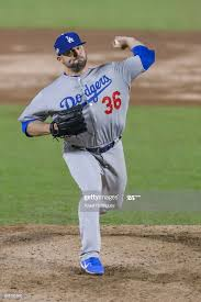 Relief pitcher Adam Liberatore of Los Angeles Dodgers pitches in ...