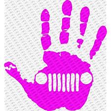 Amazon Com Collectible Decals Jeep Wave Hand Vinyl Decal Sticker Fits Jeep Wrangler Rubicon Jk Tj Yj Cj 6 Pink Automotive