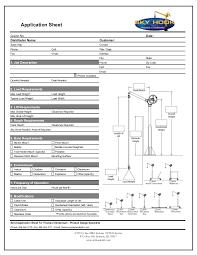 Application Sheet - Rev B