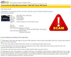 motor vehicle purchase invoice from ebay