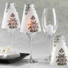 classy wine glass lamp made from vellum