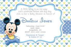 Baby Mickey Mouse Baby Shower Invitations Cute