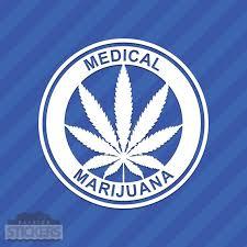 Medical Marijuana Vinyl Decal Sticker 420 Pot Leaf Weed Etsy