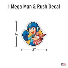 Mega Man Rush 8 Bit Retro Decal Car Sticker Decalcomania