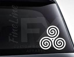 Triskele Celtic Spiral Knot Vinyl Decal Sticker