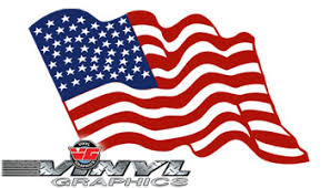 Vehicle Graphics Waving American Flag Vinyl Decals X Large