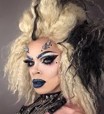 unusual demon makeup idea for