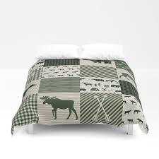 camping hunter green plaid quilt