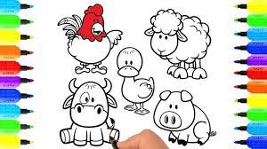 Bé Tập Tô Màu Con Vật, Vẽ Tranh và Tô Màu, Trẻ Em Học Vẽ Các Con ...