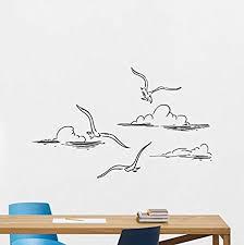 Amazon Com Seagulls In Clouds Wall Decal Sea Gulls Ocean Birds Sun Sky Vinyl Sticker Sunshine Nursery Bathroom Wall Decor Wall Art Kids Teen Girl Boy Room Wall Design Modern Bedroom Wall Decor